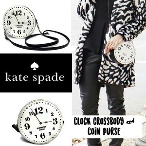 Kate Spade ♠️ Clock ⏰ Crossbody Bag & Coin Purse